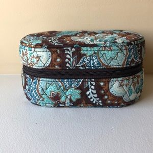 Vera Bradley Travel Jewelry Box Java Blue Pattern